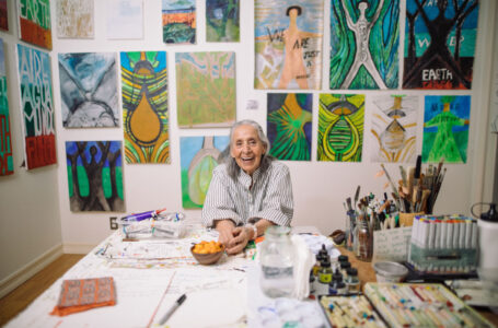 Luchita Hurtado in her Santa Monica home and studio.